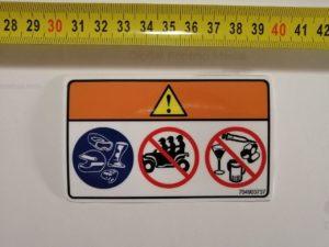 Наклейка на квадроцикл Запрещено наркотики под оригинал