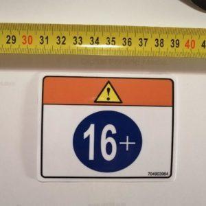 Наклейка на квадроцикл Возраст 16+ под оригинал