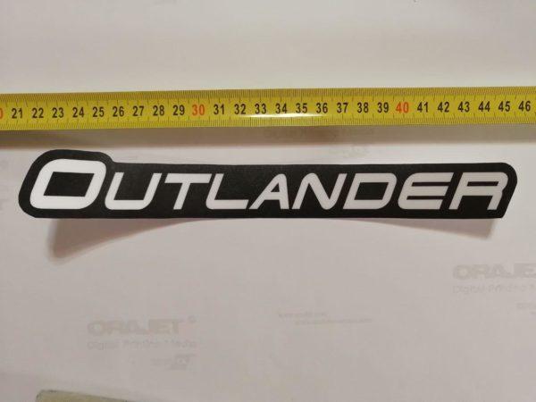Наклейка Outlander на квадроцикл под оригинал