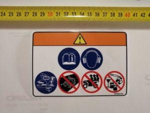 Наклейка на квадроцикл Пассажиры под оригинал