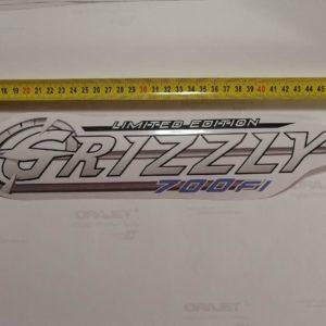Наклейка Grizzly на квадроцикл Yamaha