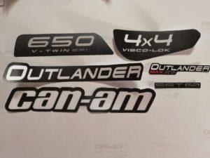 Комплект наклеек на квадроцикл Can-Am под оригинал